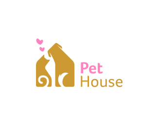Pet House Logo design (SOLD) - Logo can be used for pet ...