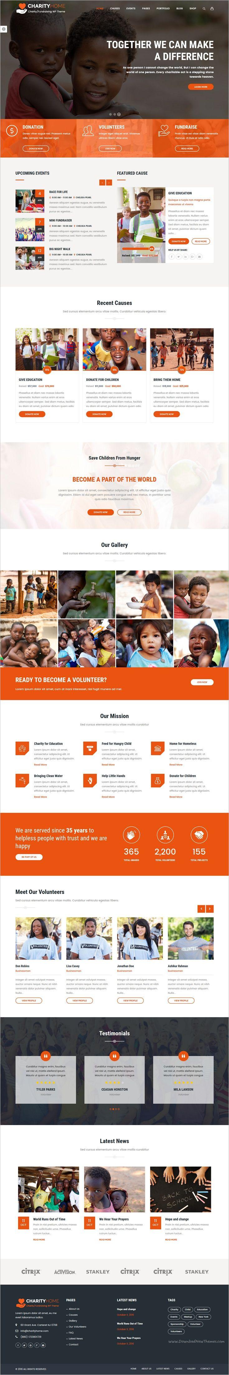 Charity Home Charity Fundraising Wordpress Theme Nonprofit Website Design Nonprofit Design Web Design Inspiration