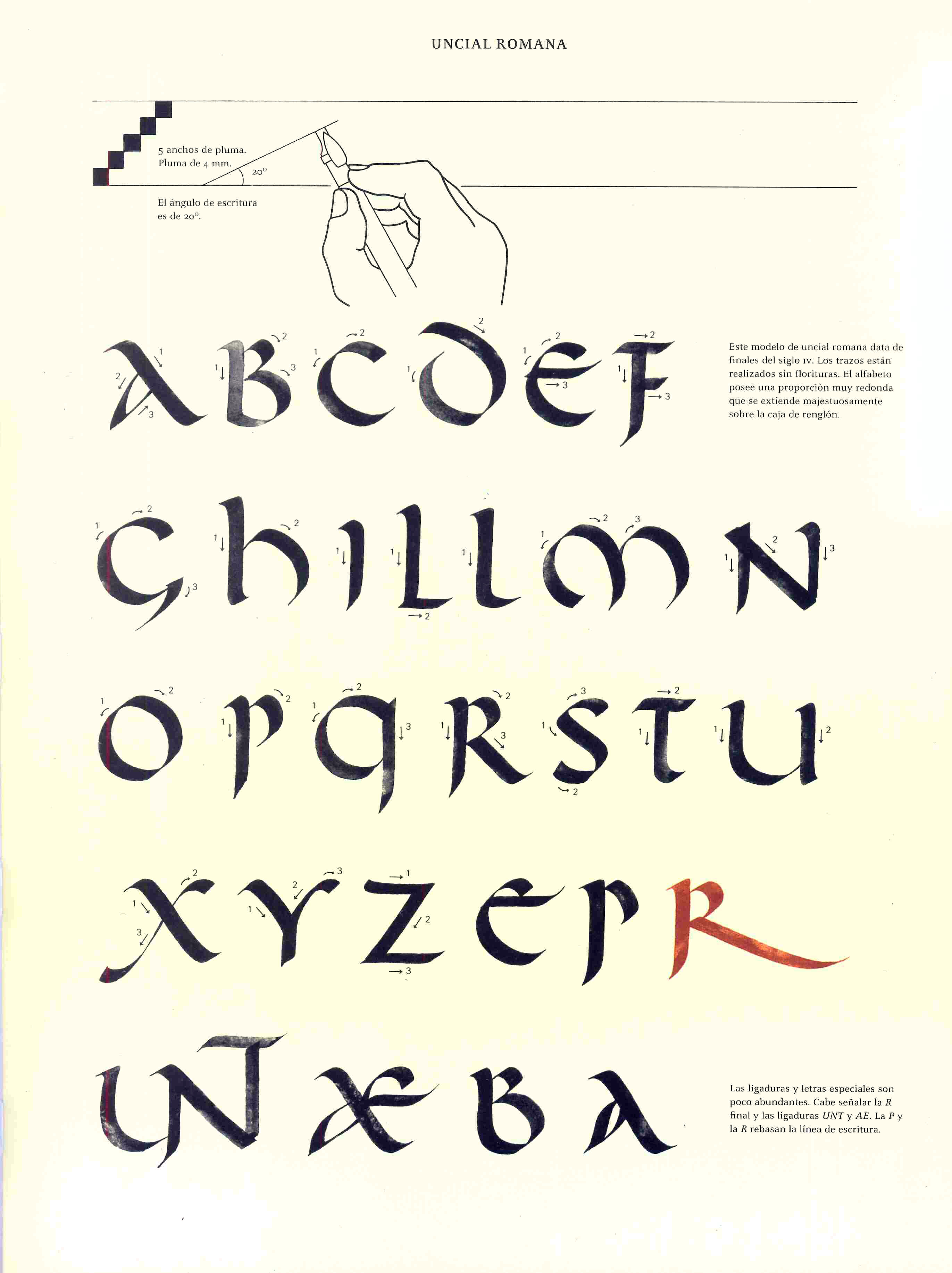 Caligrafia Uncial Romana Letras Romanas Caligrafia Escritura