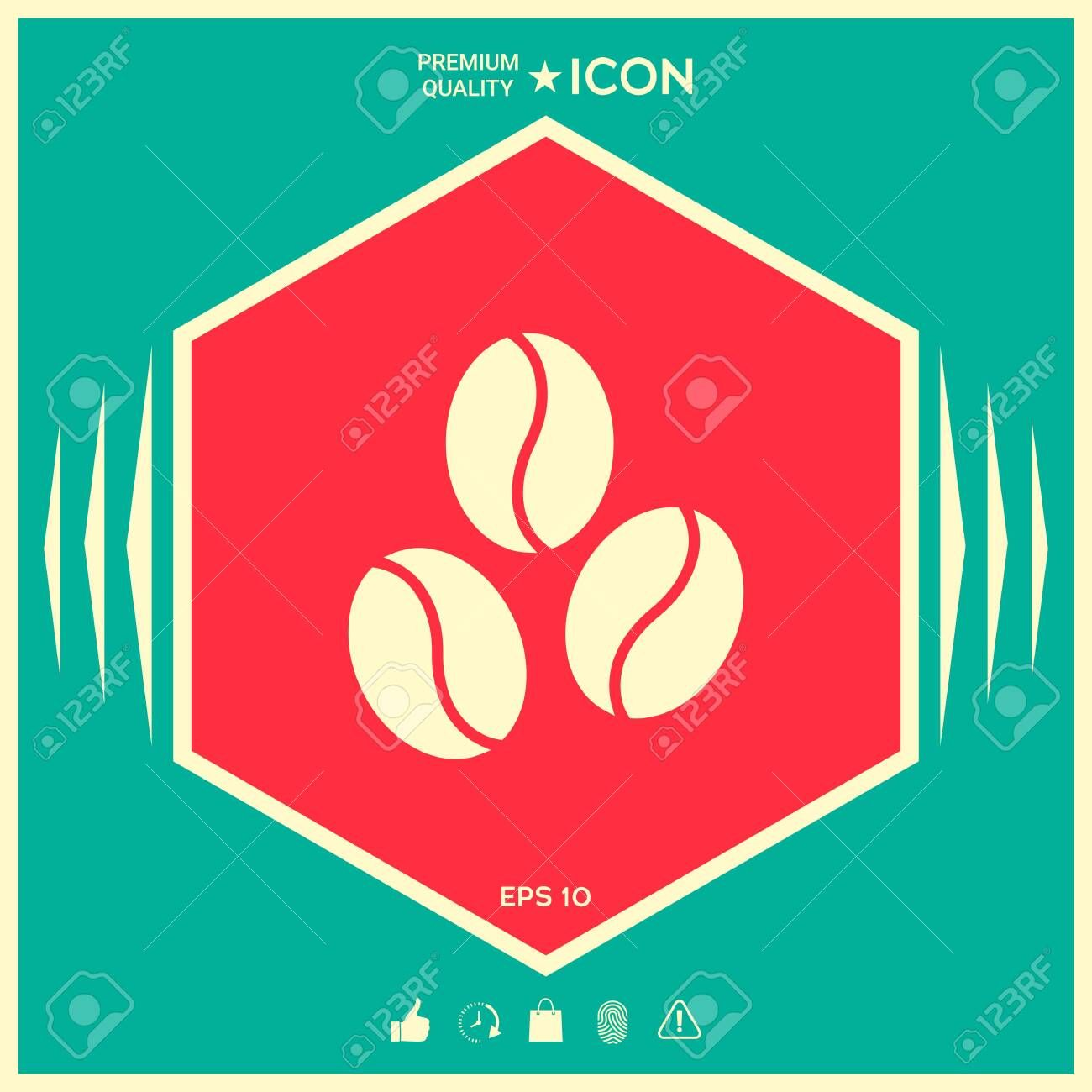Coffee beans line icon Element for your design  Signs and symbols  graphic elements for your design