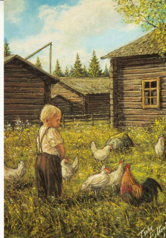 Terho Peltoniemi - Poika ja kanat. - Huuto.net