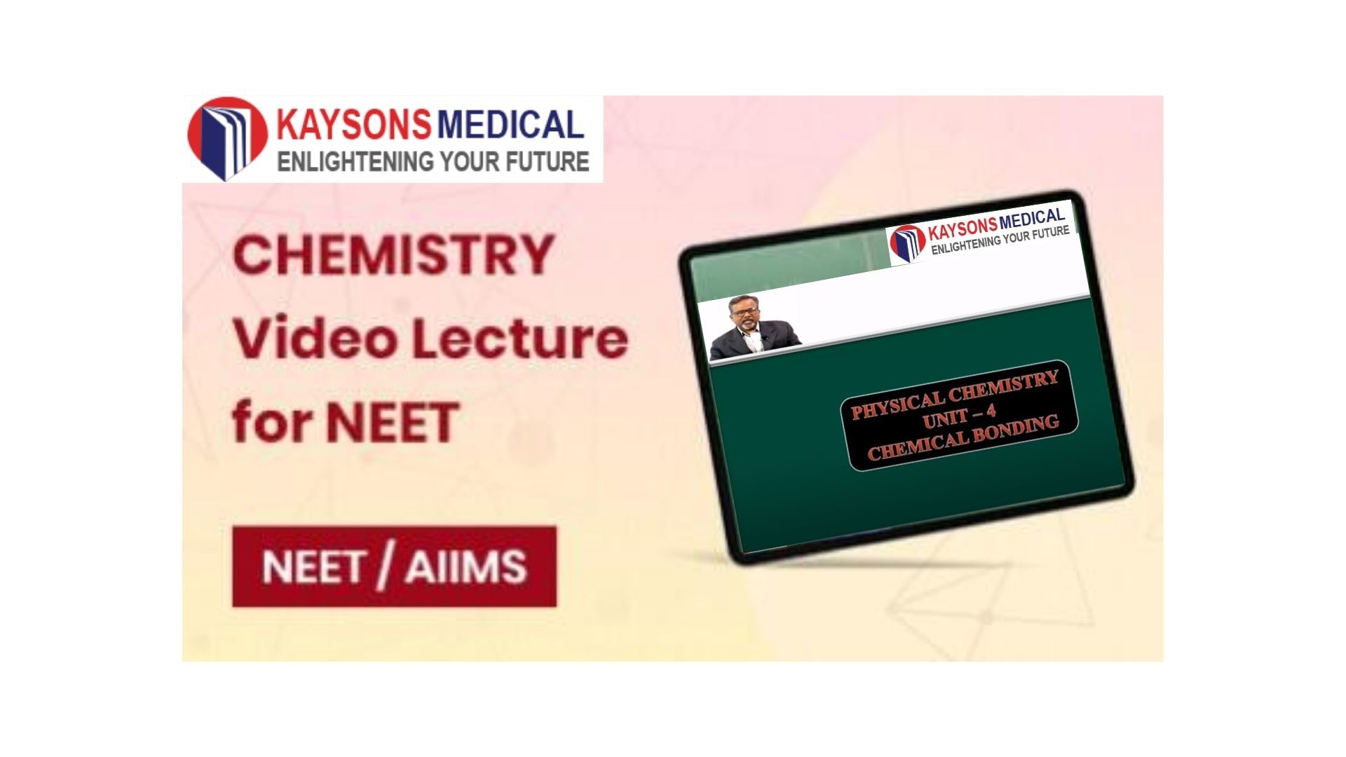Kaysons Medical Chemistry video lectures for NEET are the best you can choose to prepare for the NEET exam. Most of the concepts in chemistry are abstract in nature which makes them difficult. Kaysons NEET Chemistry video lectures aim to build a strong foundation. The video lectures are designed such that the core concept is explained thoroughly with the help of rich visuals and 2D /3D animations.