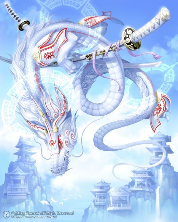 Image result for chinese zodiac anime white dragon