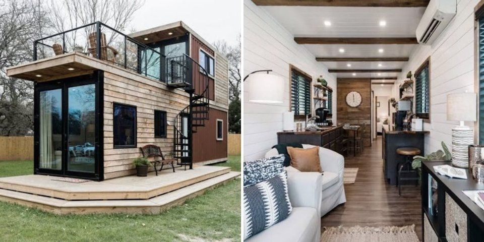 Fixer Upper Fans Visiting Magnolia Market In Waco Texas Can Now Stay In A Trendy Two Story Home Made Out Of Sh Magnolia Market House Styles Ship Lap Walls