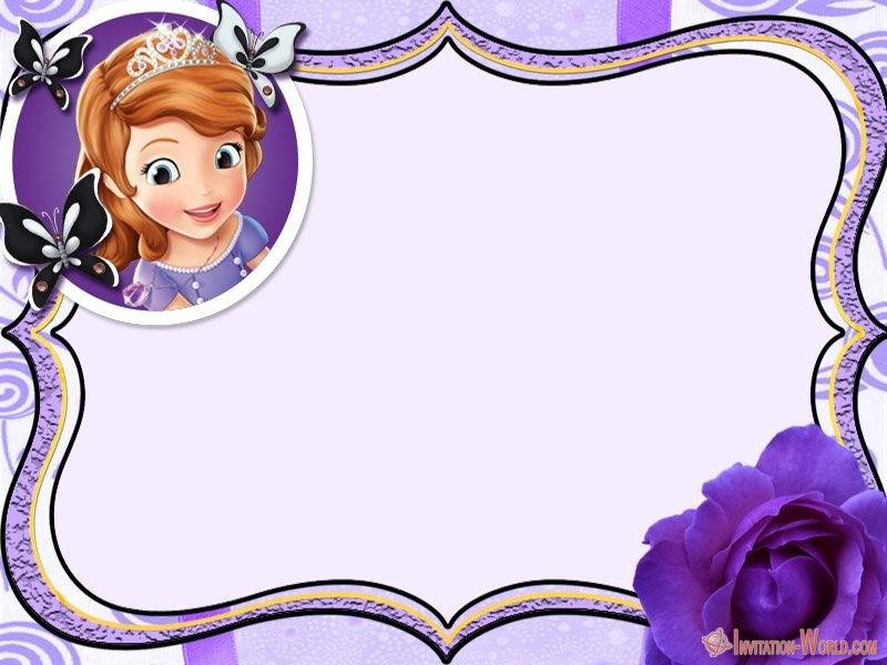 Sofia The First Free Online Invitation Templates Invitation World First Birthday Invitations Free Online Invitation Templates Birthday Invitation Templates