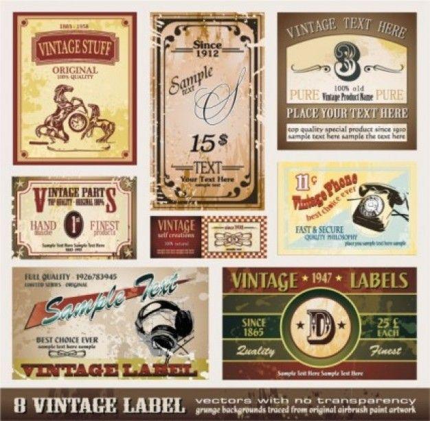 Freepik Graphic Resources For Everyone Vintage Wine Label Wine Label Collection Vintage Labels