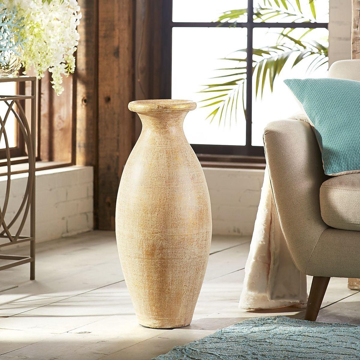Golden patina cream terracotta floor vase pier 1 imports pier golden patina cream terracotta floor vase pier 1 imports floridaeventfo Choice Image