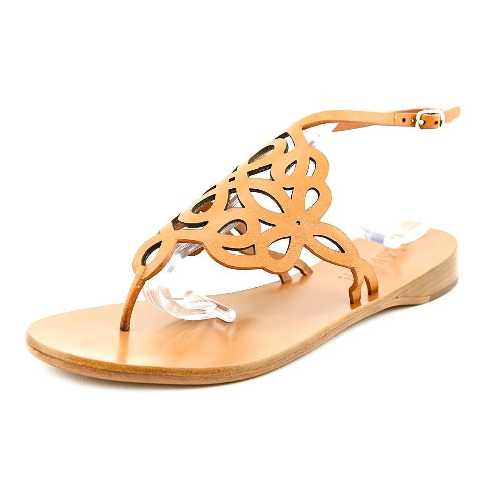 3304349d42ad9b Lauren Ralph Lauren Tanya Womens 9 Tan Leather Thongs Sandals Shoes  New Display