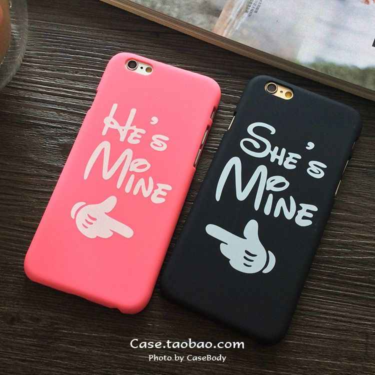 Valentine He is mine She is mine for Lover/Couple Case for iPhone ...
