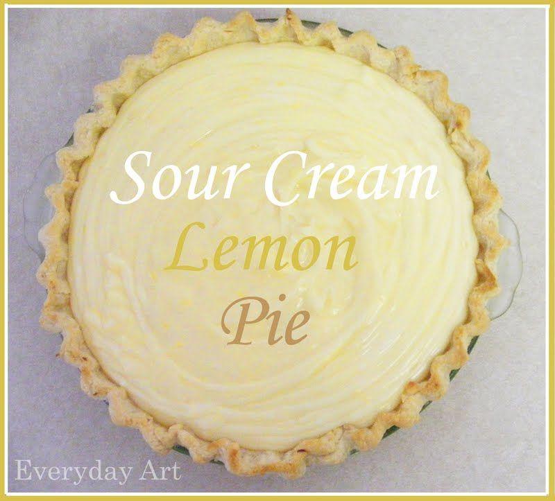 sour cream lemon pie   sweet  tangy  creamy  super yummy