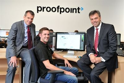CEO of Proofpoint and CEO of Invest NI visit new Proofpoint