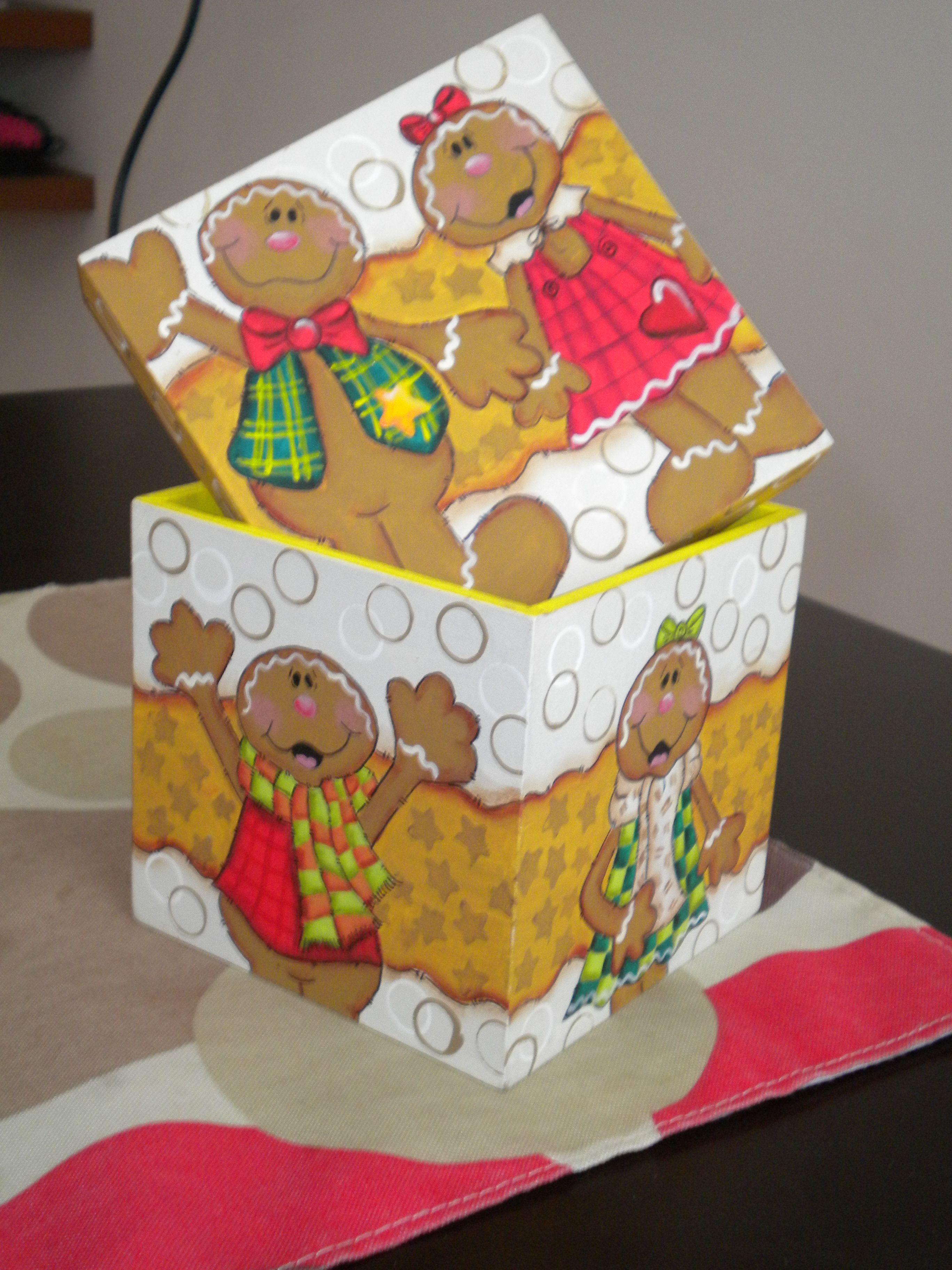 Cajita De Galletas De Jengibre Navidad Manualidades Navidenas