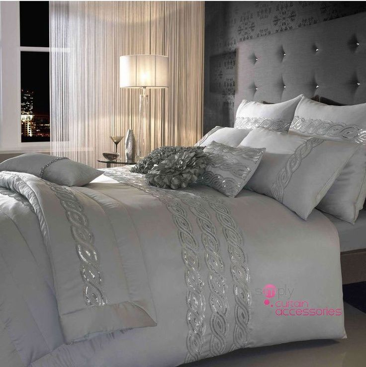 21 Stunning Grey and Silver Bedroom Ideas | Silver bedroom, Bedrooms ...