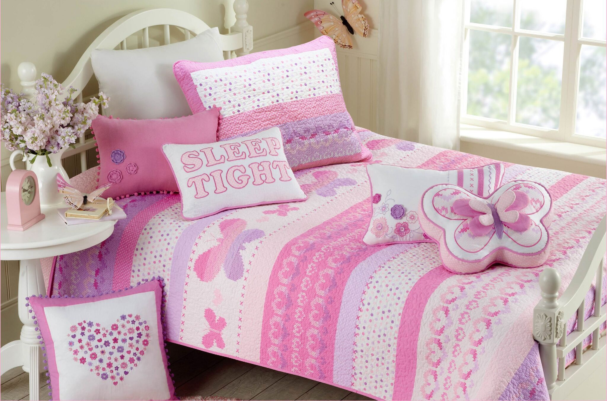 pink butterfly bedroom pink purple butterflies amp hearts bedding or 12858
