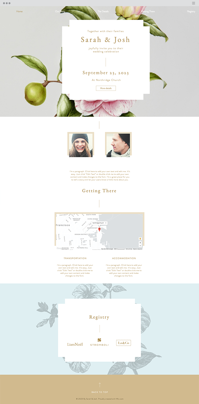 Romantic Wedding Invitation Online Wedding Invitation
