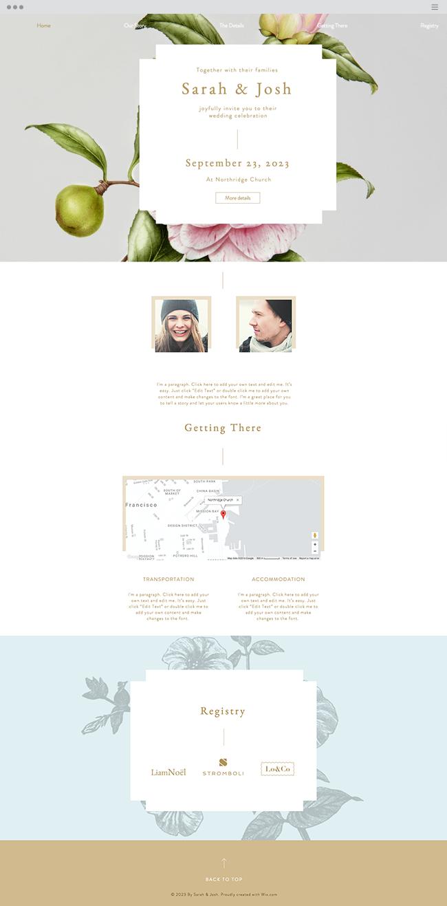 Romantic Wedding Invitation | Online Wedding Invitation | Wix ...