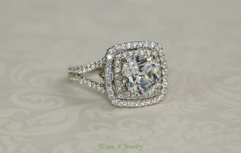 H Simulated Diamond Engagement Ring + Gift (item#  Er004303000115)