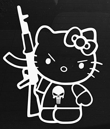 Hello Kitty Punisher Decal Vinyl StickerCars Trucks Vans Walls - Window decals for cars and trucksbest gambler images on pinterest hello kitty vinyl decals