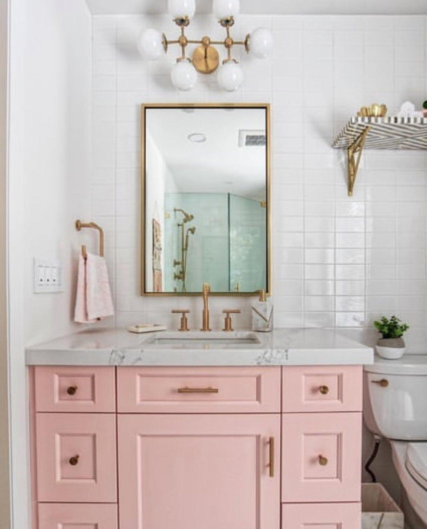 Best Blush Mid Century Modern Bathroom Modern Bathroom 400 x 300