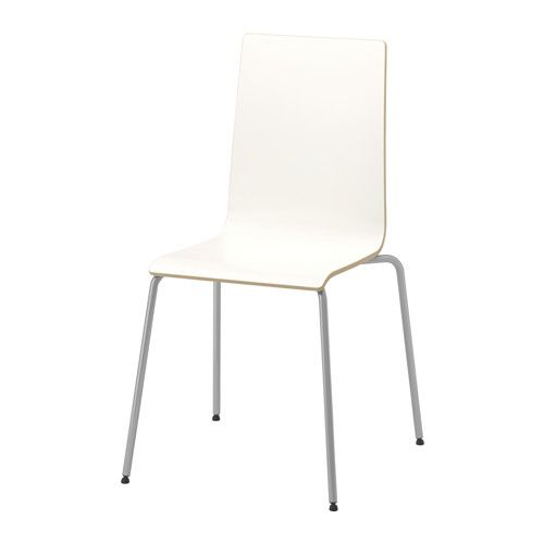 Superior IKEA MARTIN Chair Silver Colour/white You Can Stack The Chairs, So They