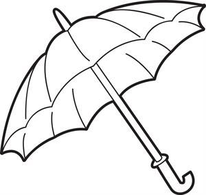 Leprechaun Coloring Page 2 Big umbrella and Spring