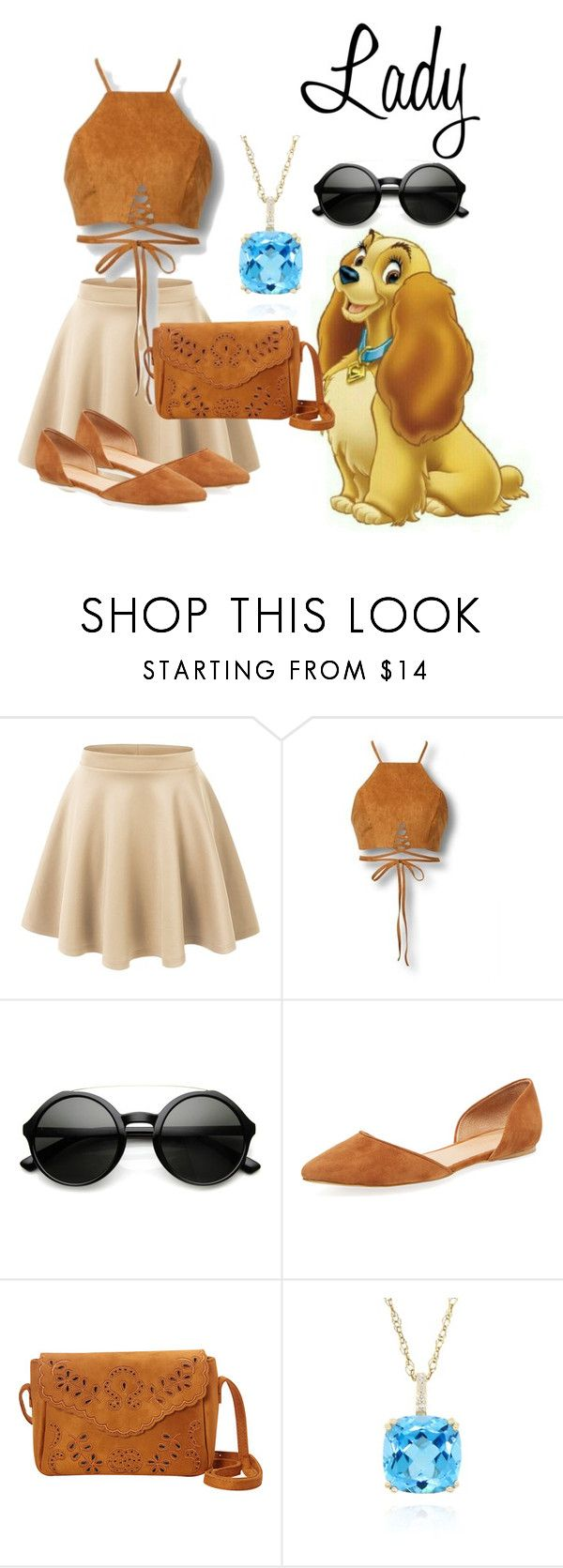 """""""Lady disneybound"""" by isabellefadel ❤ liked on Polyvore featuring LE3NO, ZeroUV, Maiden Lane, Nu-G and Belk & Co."""