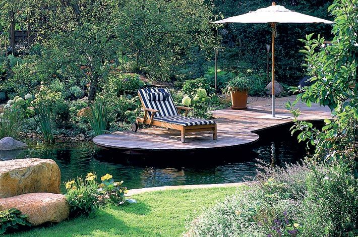 Garten mit Schwimmteich Pool Pinterest Schwimmteich, Gärten - gartenanlagen mit wasser