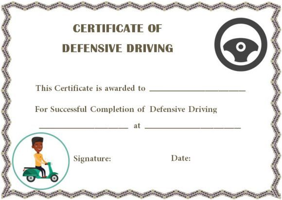 defensive driving certificate of completions | Safe Driving ...