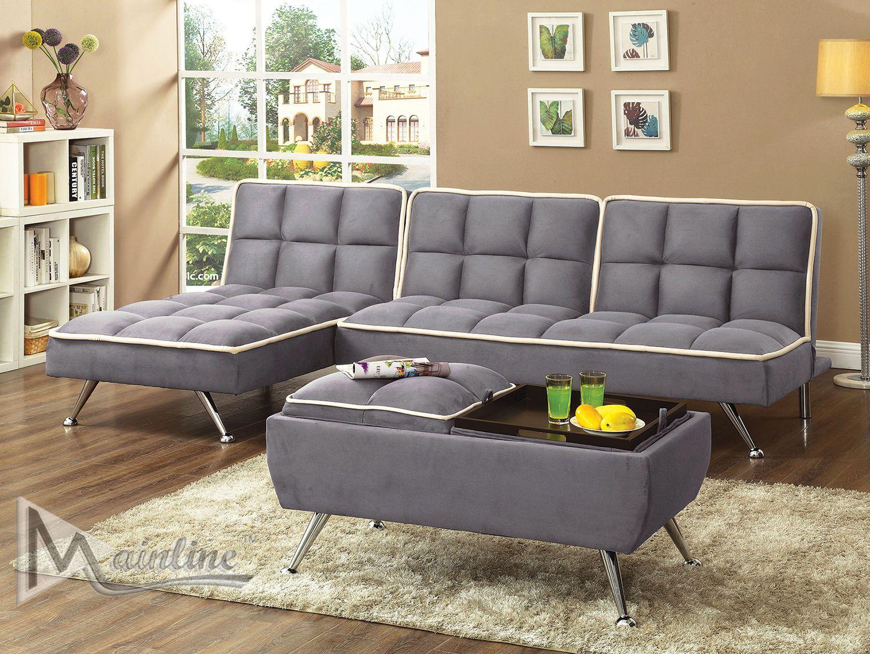 Zeppoles Gray Sofa Bed 72150 Mainline Inc Sleeper Sofas Sofa Bed Grey Sofa Bed Sleeper Sofa