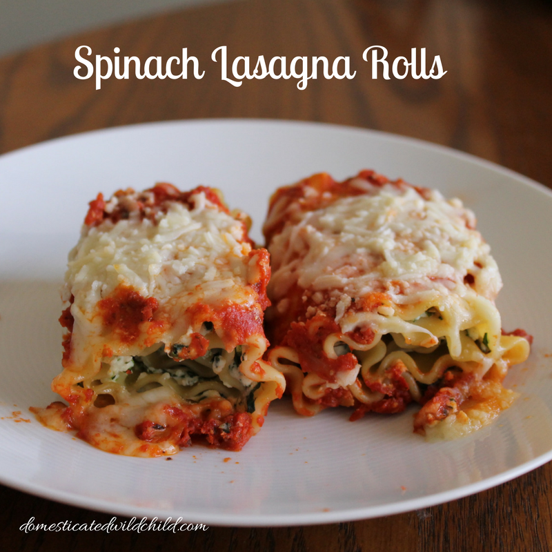 Enjoy a classic with a twist! These Spinach Lasagna Rolls are stuffed with flavor and the perfect meal for any night of the week!