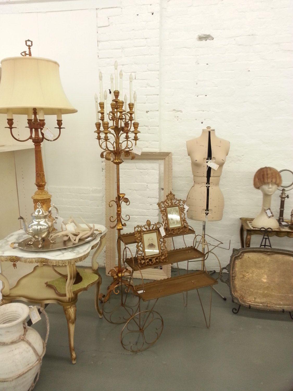 6 FT Rare Tole Lamp Italian Gold Gilt Candelabra Metal