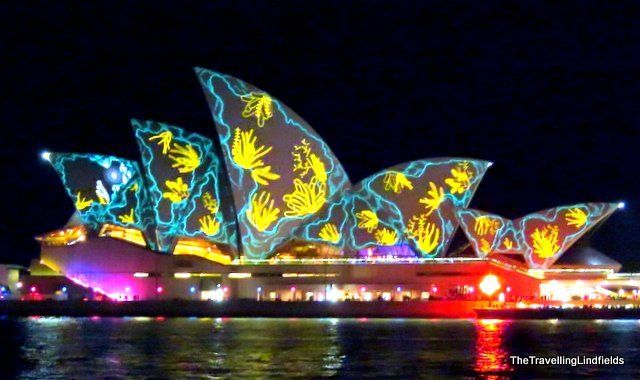 The Opera House during Vivid Sydney.