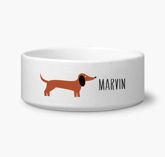 Dachshund Accessories for Dogs Dog bowls, Ceramic dog