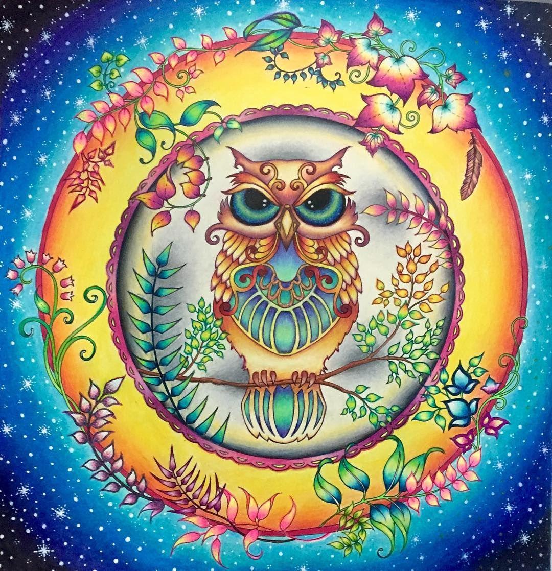Instagram Photo By Katia Jul 6 2016 At 2 07am Utc Enchanted Forest Coloring Enchanted Forest Coloring Book Johanna Basford Enchanted Forest