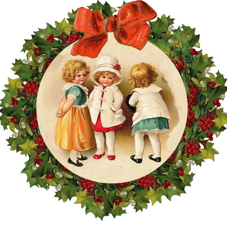 Рождественские картинки для декупажа