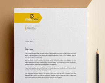 Letterhead Template | MS Word, PSD, EPS Letterhead | Peronalized ...