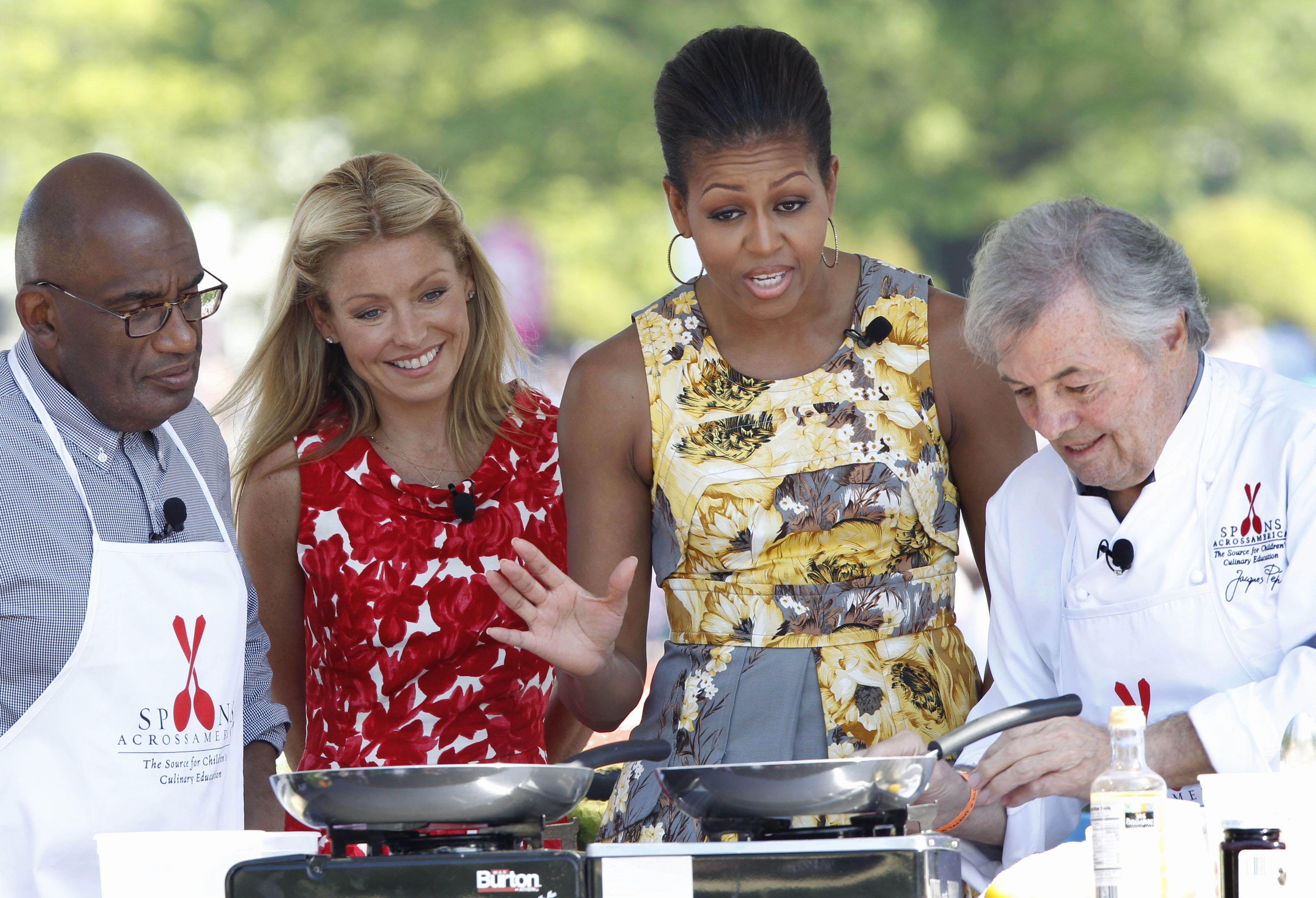 Michelle Obama Jacques Pepin Al Roker Kelly Ripa Kelly Ripa Michelle Obama Jacque Pepin