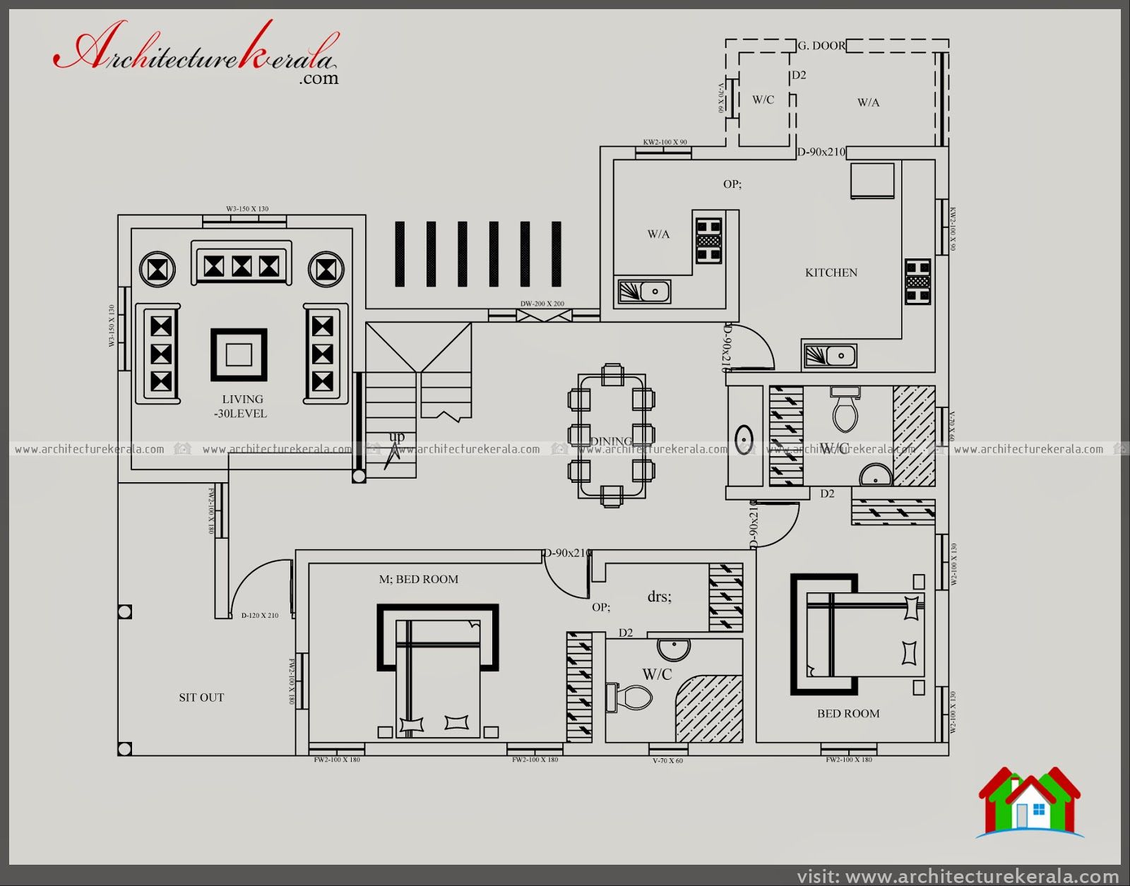 3000 Square Feet House Plan And Elevation Five Bedroom House Plan Image How To Plan House Blueprints House Plans