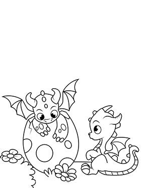 Ausmalbild Mit Zwei Drachen Babys Ausmalbilder Drachen Ausmalbilder Ausmalbilder Zum Ausdrucken
