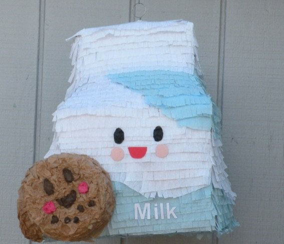 Milk And Cookies Pinata Carton Made To Order By Whack On