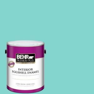BEHR Premium Plus Home Decorators Collection 1 Gal. #HDC MD 09 Island Oasis  Eggshell Enamel Zero VOC Interior Paint And Primer In One 240001   The Home  ...