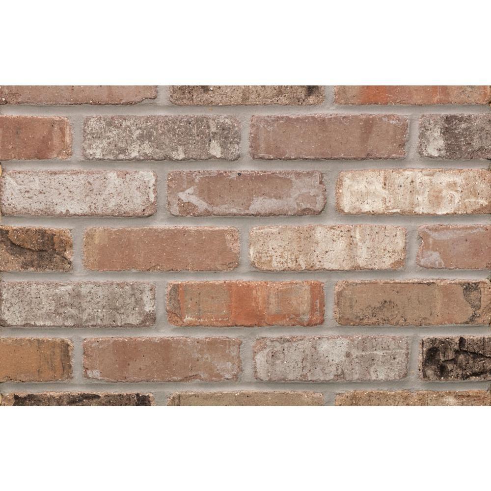 Providence Carbon Cut Kiln Fired Thin Brick Tumbled Smooth