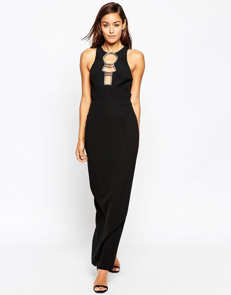Hardware Open Back Maxi Dress - Black Asos Pay With Paypal Cheap Price Cheap Sale Supply Cheap Sale Really Many Kinds Of For Sale nipTFAF