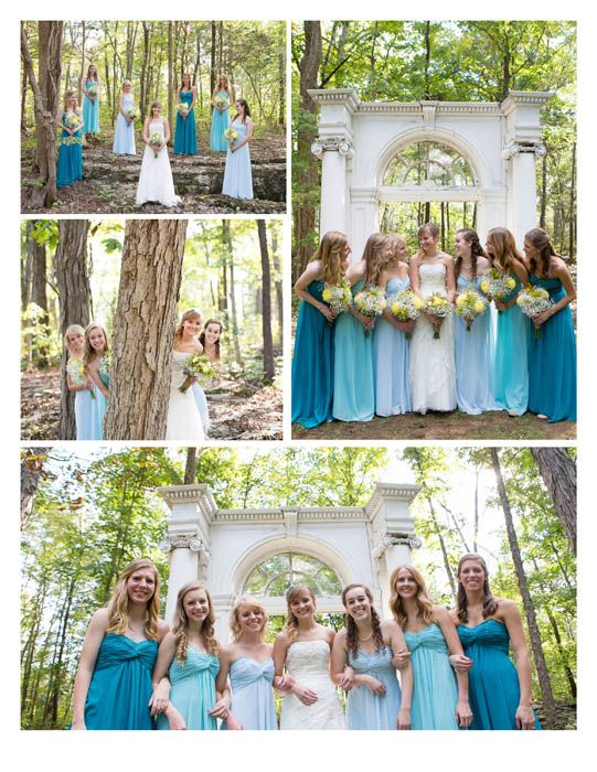 Different Shade Bridesmaid Dresses The Wrens Nest Wedding