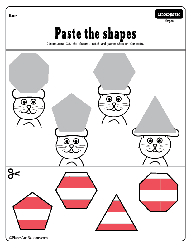 Cats With Funny Hats - Dr. Seuss Inspired Shapes Matching Worksheets Dr  Seuss Preschool Activities, Dr Seuss Math Activities, Dr Seuss Activities