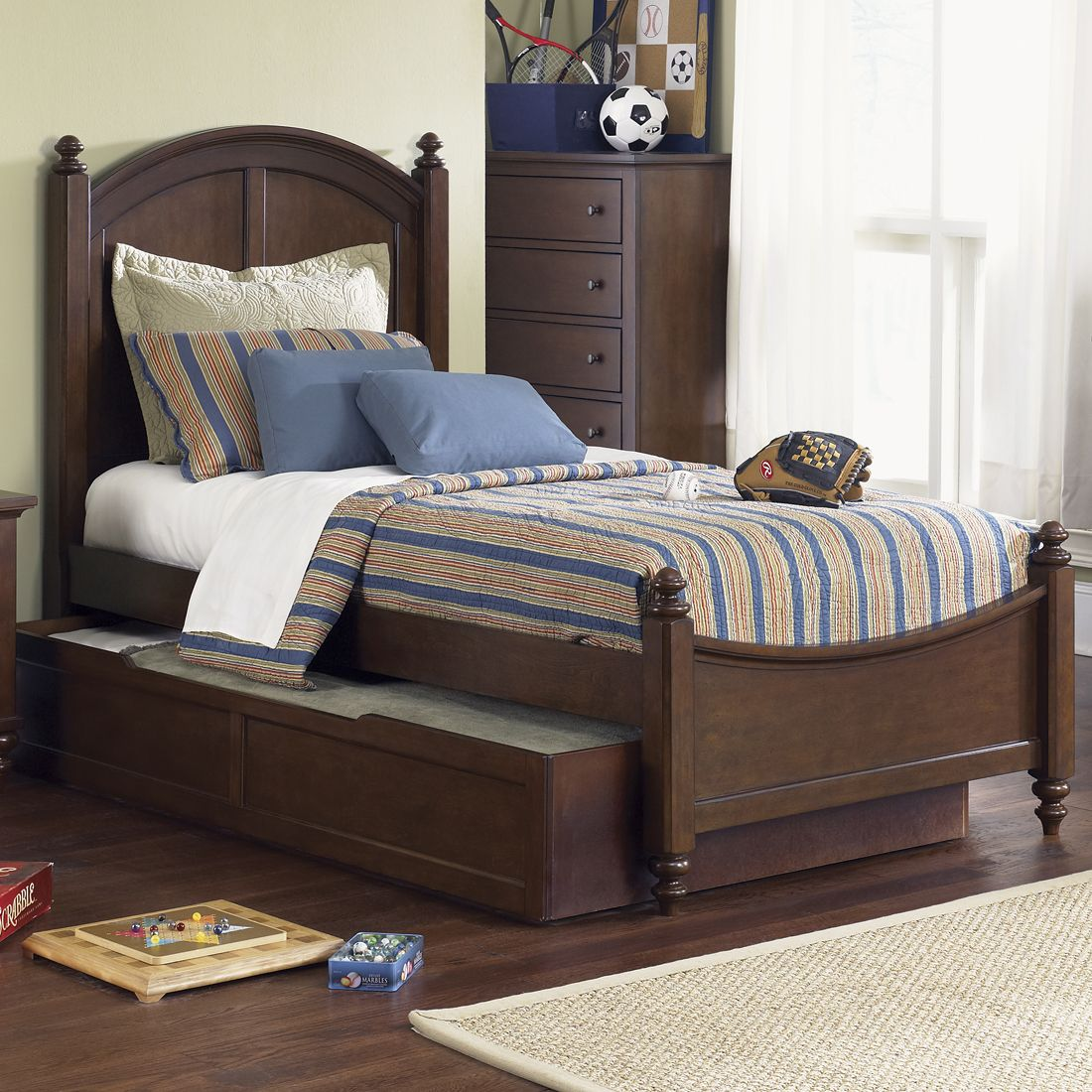 Liberty Furniture 277-BR1 Abbott Ridge Youth Panel Bed | ATG Stores