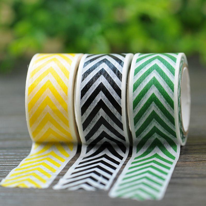 Scotch Decorative Masking Tape 2017 New 1X Chevron Herringbone Japanese Washi Tape Scrapbooking