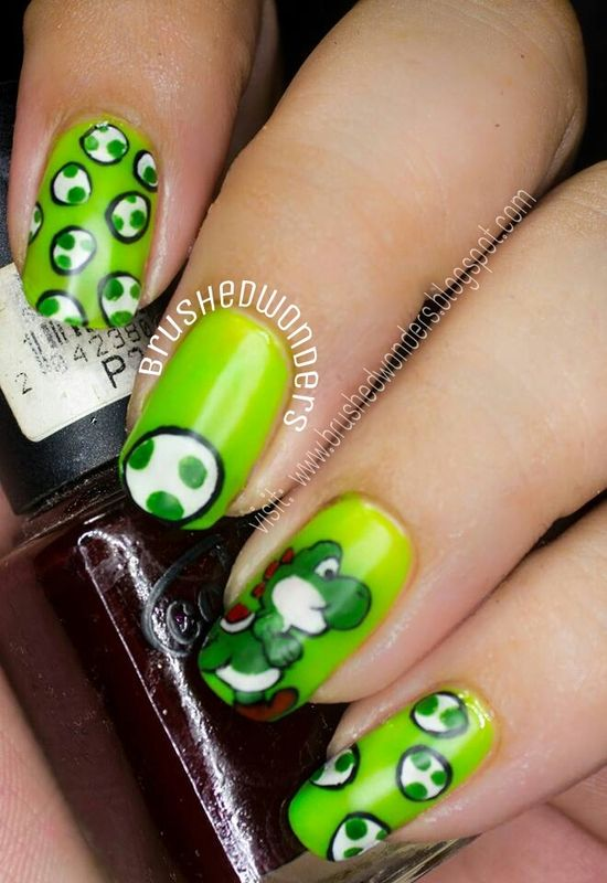 Nailpolis Museum of Nail Art | yoshi ail art by Kate #nails #nailart ...
