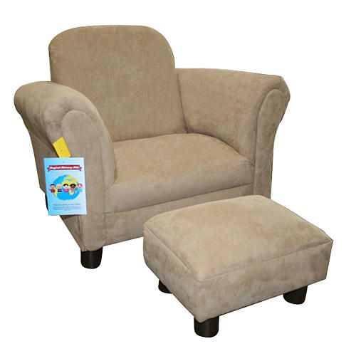 Tremendous Harmony Kids Deluxe Chair And Ottoman Micro Tan Harmony Lamtechconsult Wood Chair Design Ideas Lamtechconsultcom