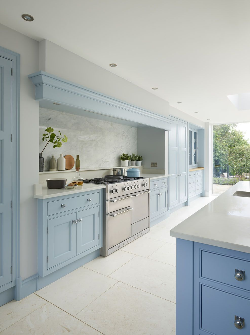 This Bespoke Blue Martin Moore Kitchen Was Designed And Handmade